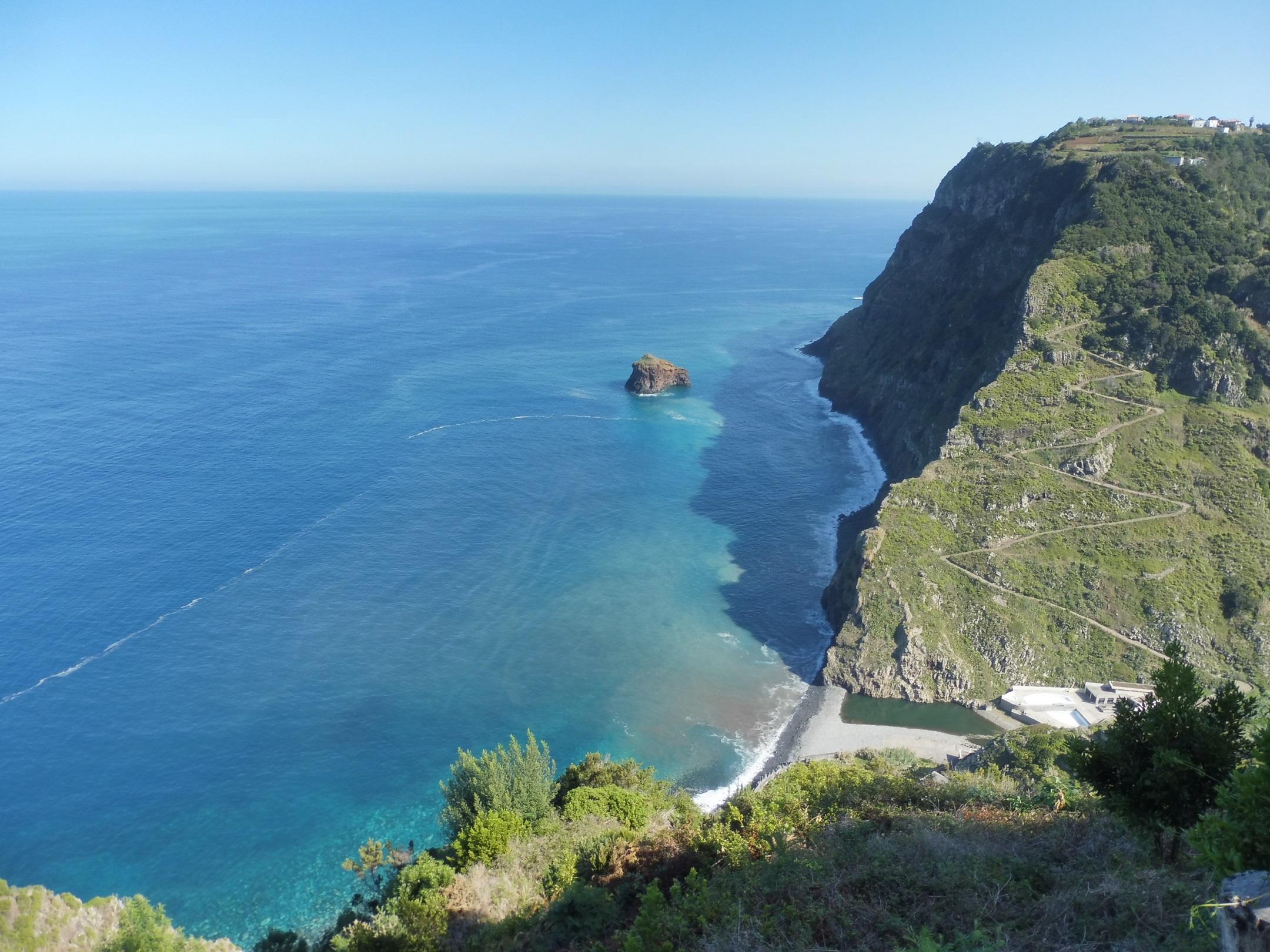 A Praia de São Jorge, vagyis a strand felülről