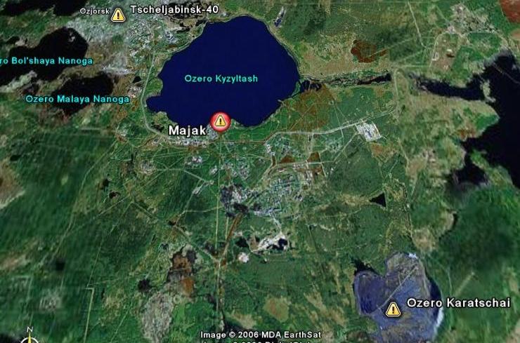Majak térképe