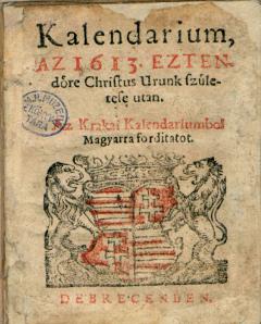 Kalendárium 1613.