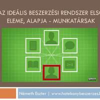 Az ideális beszerzési rendszer első eleme, alapja - Munkatársak