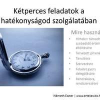 Kétperces feladatok a hatékonyságod szolgálatában