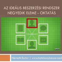 Az ideális beszerzési rendszer negyedik eleme – oktatás