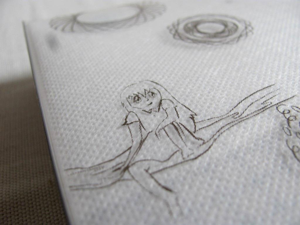 A csomagolás hátulján cuki manga-rajz
