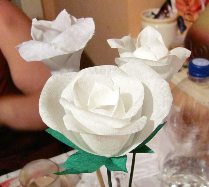 Papír (és anyag) rózsák
