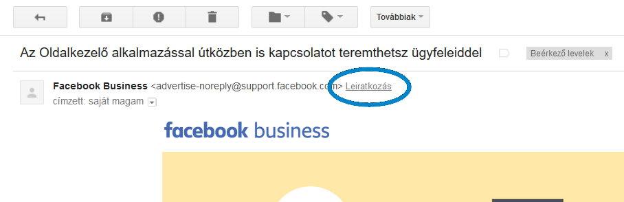 Leiratkozás Gmail-ben