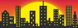 modern település illusztráció