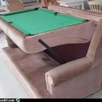 Beépitett biliárdasztal