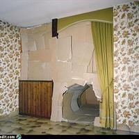 Könnyűszerkezetes fal, beépitett patkánylyukkal