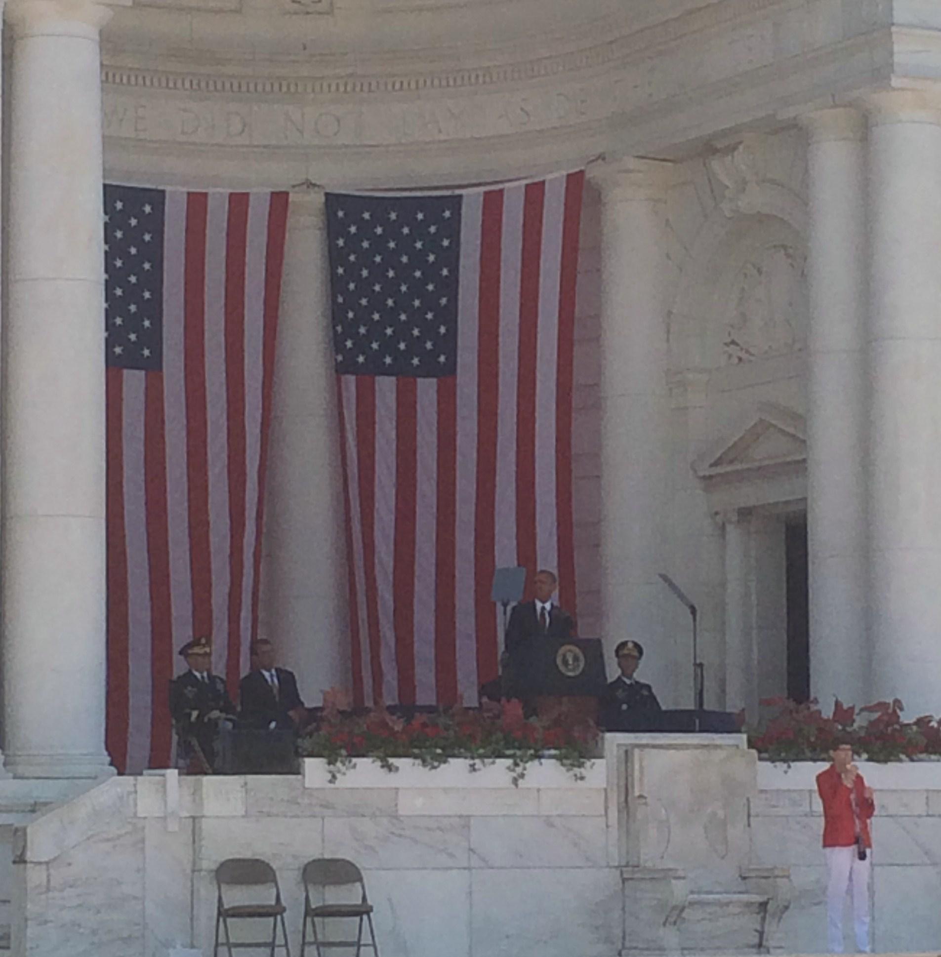 Barack Obama beszéde közben.