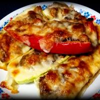 Csirkés rakott cukkini vagy paprika
