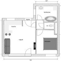 Hogyan optimalizáltuk a teret egy aprócska garzonban?