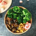 Padlizsánpörkölt fűszeres csicseriborsóval