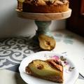 Teljes kiőrlésű körtés-diós sütemény