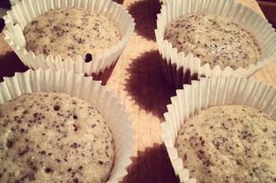 Mákos banános muffin