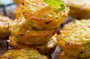 Gluténmentes sajtos cukkini muffin