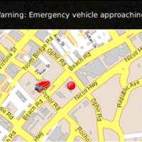 Szirénaszóra figyelmeztető GPS
