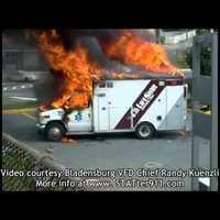 Felrobbant egy mentőautó