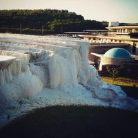 When East meet West. Pamukkale in the EU. #egerszalók #thermal #spa #hungary #calc