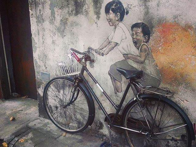 Street art Penang. #mertutaznijo #travel #travelphotography #malaysia #penang #utazas #streetart #graffiti