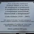Ha kell, ha nem: templomi emléktábla a koronavírusnak