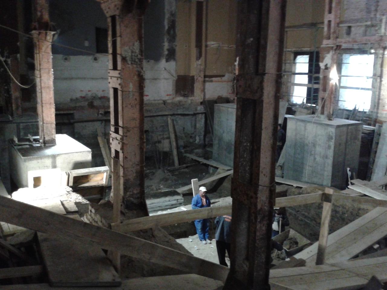 A betontömbök tetején volt a padló szintje