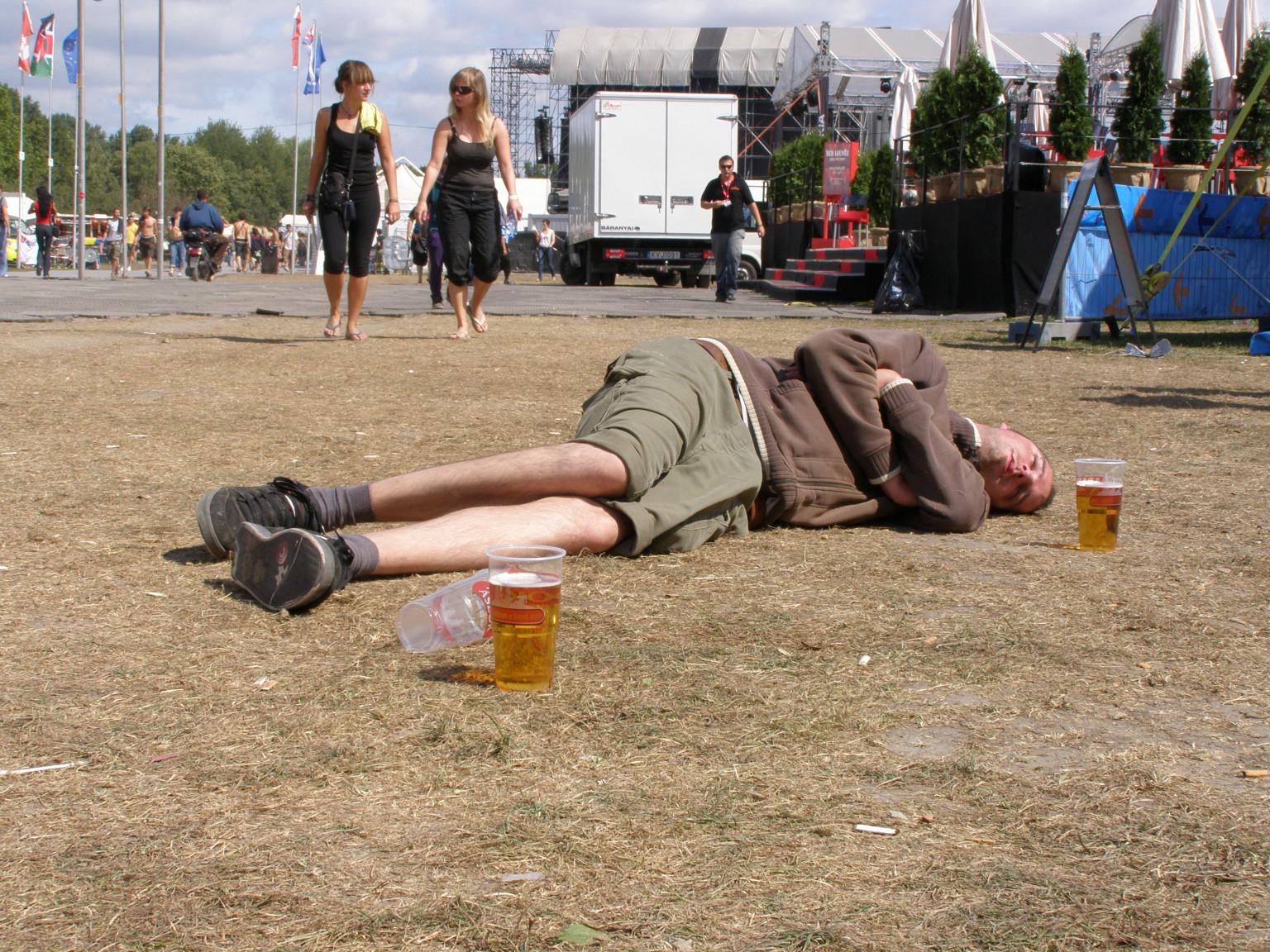 Itt még a fesztivál közben pihenő másik vendég