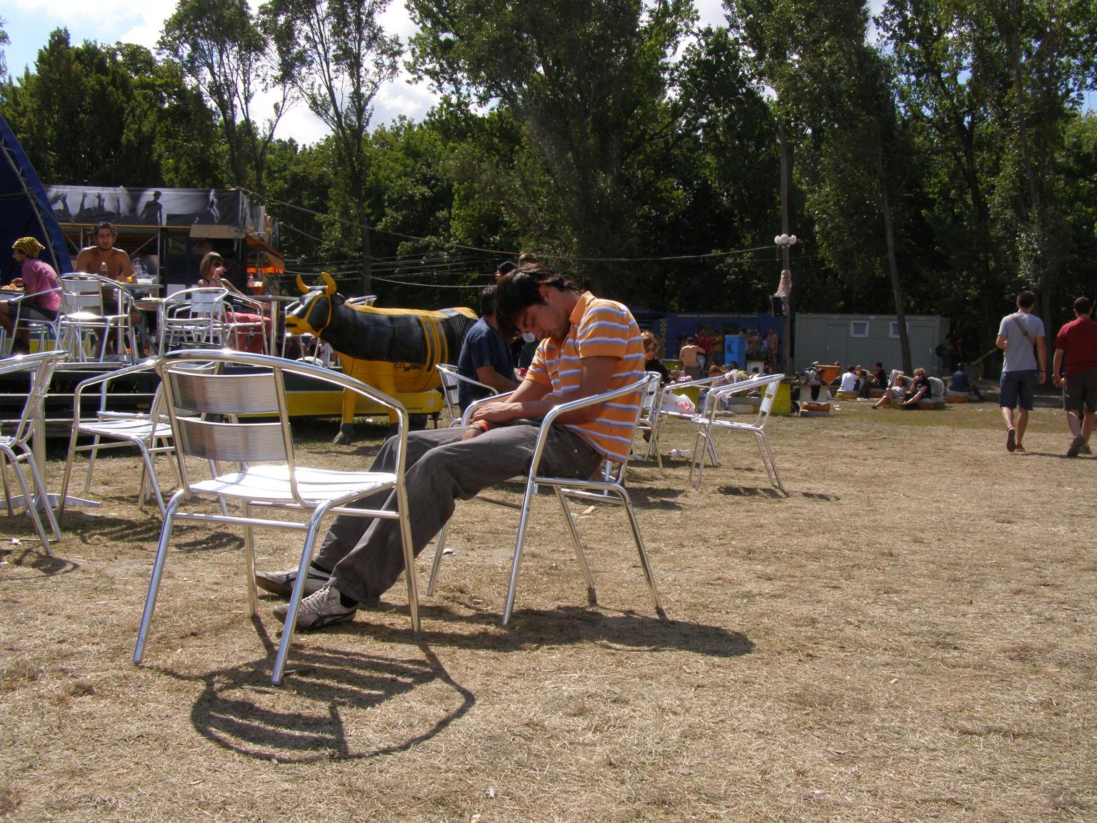 Itt pedig a fesztivál közben pihenő másik vendég