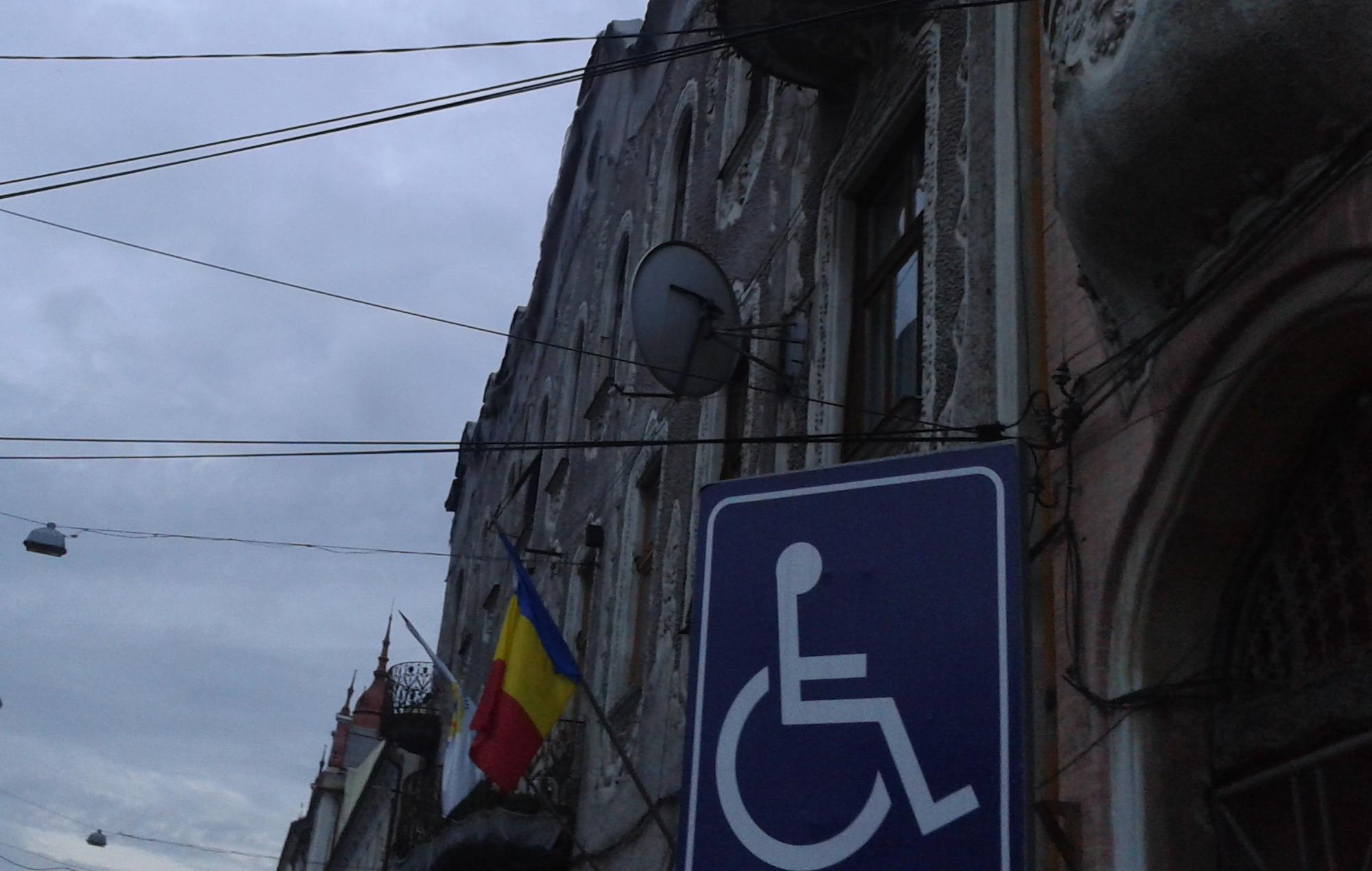 A Nagy-Románia Párt (PRM) nagyváradi székházánál.
