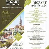 """Mátyás templom – """"a bennünk élő vágy"""" – Mozart előtt és után - A Solti Kamarazenekar koncertje Cser Krisztiánnal – 2018.június 23."""