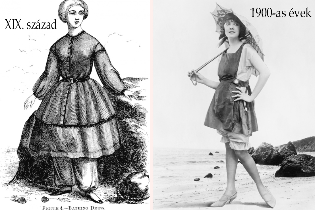 8a09f4b34f 1910 és 1920-as évek divatja is még elég sok mindent takart a mai kíváncsi  szemek elől: