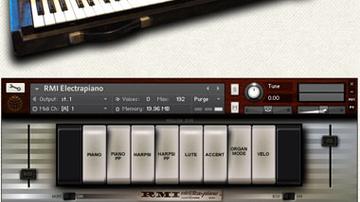 Vintage elektromos zongora Kontakt alá