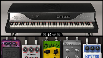 Vintage e-zongora, modellezve