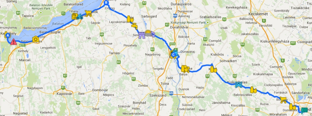 simontornya térkép Keszthely Dél Balaton Enyig Simontornya Paks   Paks Kalocsa  simontornya térkép