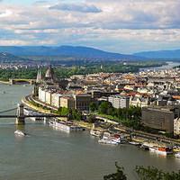 Budapest a Gellérthegyről