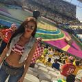 A dögös Severina Vučković nem elég, hogy írt egy forró latint dalt a vébére, el is utazott Brazíliába Horvátországnak szurkolni