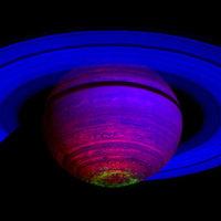 A nap képe: infravörös sarki fény a Szaturnuszon