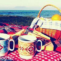 Családi piknik a parton decemberben