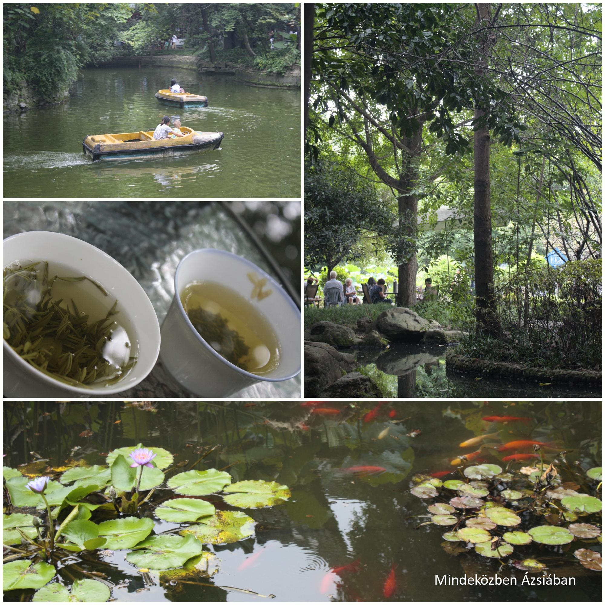 Érezni lehetett a parkokban a virágok illatát, a szecsuáni fűszereket, amik az egész várost bejárták. Nem volt az a szmogos levegő, mint Pekingben!
