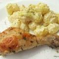 Rozmaringos csirkecomb tejszínes mustáros gnocchival