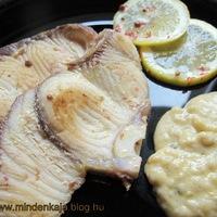 Cápa szelet fehérbormártással