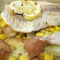 Grillezett hal kukoricás újkrumplival