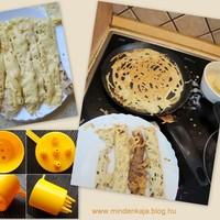Roti Jala- maláj hálós palacsinta