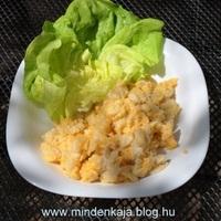 Tojásos nokedli fejes salátával