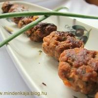 Vörösboros chorizo húsgolyók