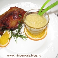 Konfitált omlós narancsos kacsacomb