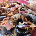 Feketekagyló vörösboros paradicsomos mártásban