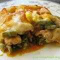Rakott csirke birsalmával és zöldbabbal