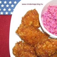 Ropogós csirkászárny amerikai káposzta salátával