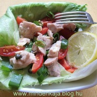 Tőkehalmáj saláta