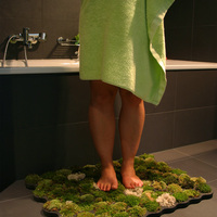 Mohaszőnyeg a fürdőbe